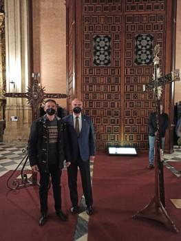 Rafael Morales (de Adarve) y Francisco Perea (presidente del Consejo de Hermandades)