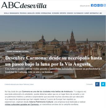 Artículo sobre Adarve y Carmona en el ABC